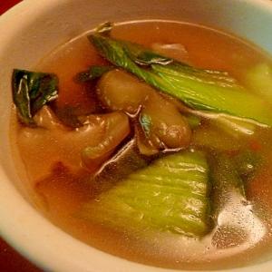 チンゲン菜とザーサイの中華スープ