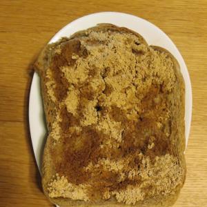 はったい粉ときな粉のトースト
