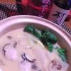 簡単ヘルシー、牡蠣の豆乳味噌鍋