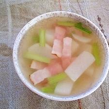 かぶとベーコンの洋風スープ