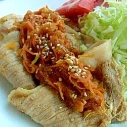 すりおろし野菜の生姜焼き