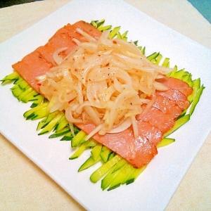 オニオンマリネ焼豚サラダ♡