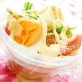 ❤新玉葱と水菜とトマトと茹で卵の塩レモンサラダ❤