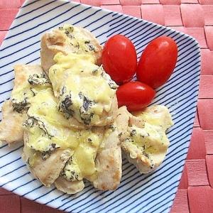 簡単!鶏むね肉の海苔マヨチーズ焼き