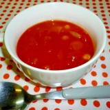 トマトたっぷり濃厚簡単☆お豆のトマトスープ♪