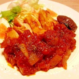 ご飯が進む♪ チキンのガーリックトマト煮込み☆