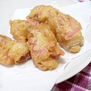 豚肉の紅生姜天ぷら(余った衣、利用)