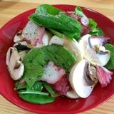 ワインに合う☆タコと小松菜のサラダ