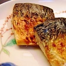 フライパンで♪胡椒を利かせた焼きサバ