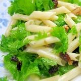 ワサビ菜のマカロニサラダ