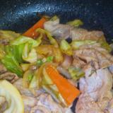 豚肉とキャベツのオイスターソース炒め