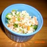 簡単柿とおからのサラダ