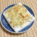 カリッとしたじゃこが美味しい!はんぺんのチーズ焼き