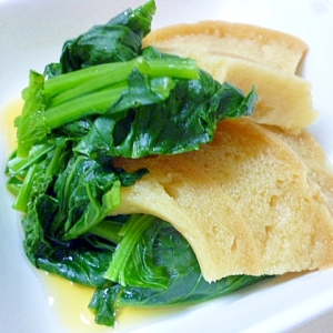 めんつゆで作るお麩と小松菜の煮物