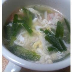 カニカマの中華スープ
