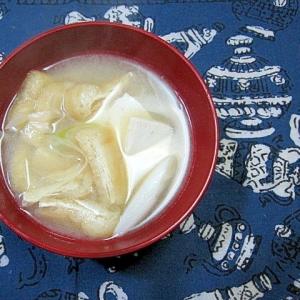 豆腐と油揚げとねぎの味噌汁