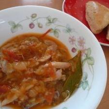 大豆の煮汁で!手羽先のトマトソース煮込み