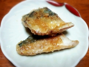 フライパンで鯖の味噌焼き