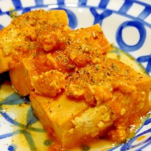 高野豆腐の挽き肉づめ★トマトジュース煮