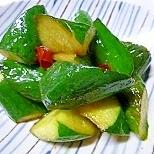 ピリ辛な、中華風胡瓜のアレンジ漬物