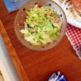 キャベツとツナとキュウリの簡単サラダ