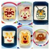 トーストで作るアンパンマンキャラクター