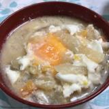 1人1個の贅沢卵の具沢山の粕汁(*^^*)☆