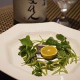 秋刀魚とクレソンのサラダ