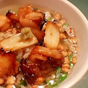 【簡単】ゆず胡椒風味の焼き鳥茶漬け ※お茶碗サイズ