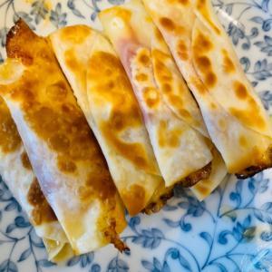 餃子の皮で、トマチーズ巻き