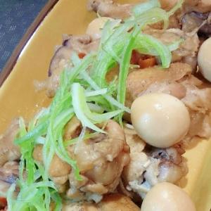 電気圧力鍋で◎鶏とうずらのスタミナ煮