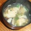 しいたけと卵のふわふわスープ