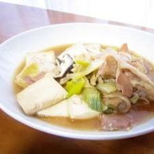 簡単★豚肉豆腐