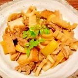 淡竹☆豚肉と厚揚げの煮物
