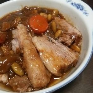 豚かたまり肉の簡単やわらかソース煮