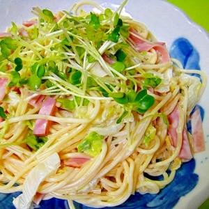 白菜とハムの和風スパゲティサラダ