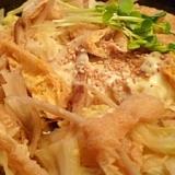レンジで簡単☆ごぼうと油揚げの卵とじ柳川鍋風