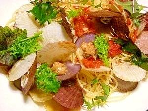ホタテ稚貝のスパゲッティ