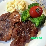 お肉みたいな♪メバチマグロの生姜焼きステーキ