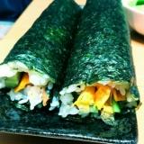 ちらし寿司のもとを使って簡単太巻き♪