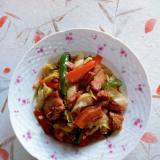 豚の角煮を使った炒め物