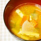 南瓜・大根のお味噌汁♪