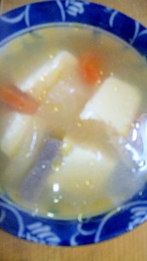 うま煮汁で!汁豆腐