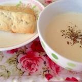 簡単朝食♡おから入りミルクスープ&朝パングラノーラ