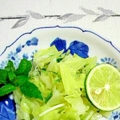 キャベツと水菜のあっさり炒め
