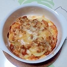 じゃが芋と納豆とキムチのミルフィーユ++