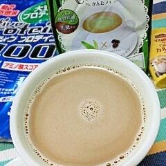 ホッと☆栄養強化抹茶きなこカプチーノ♪