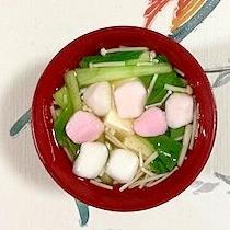 チンゲン菜、木綿豆腐、えのきのお味噌汁~♪