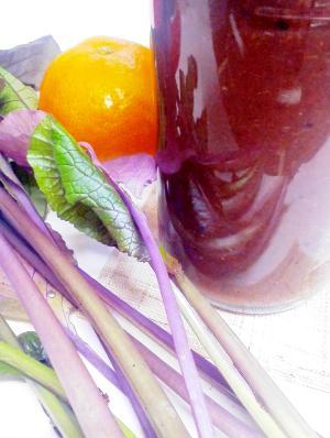 紫小松菜×みかん×キウイのグリーンスムージー♪
