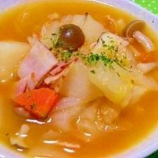 カレーにリメイク可きっと体が喜ぶ♪野菜スープ